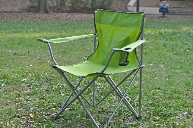 green backpacking chair